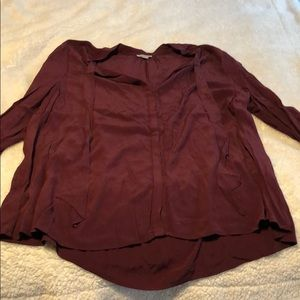 Deep maroon Lucky Brand blouse 3x